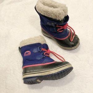Sorel   Kid's Winter Boots Lined Blue Sz 10
